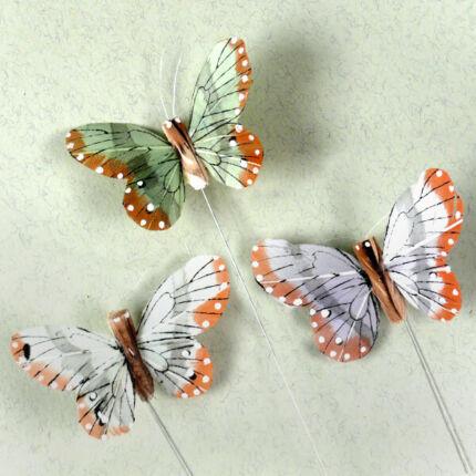 Pillangó, színes, 7,5 cm, 1 db