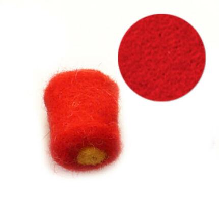 Filcgyöngy, töltött cukor - piros