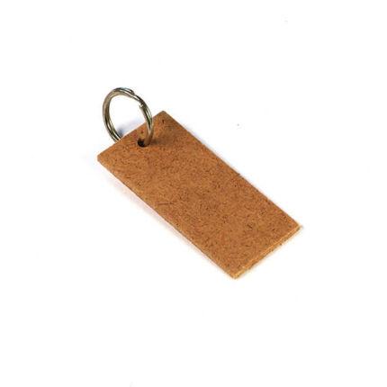 MDF kulcstartó, téglalap, 7x3,5cm