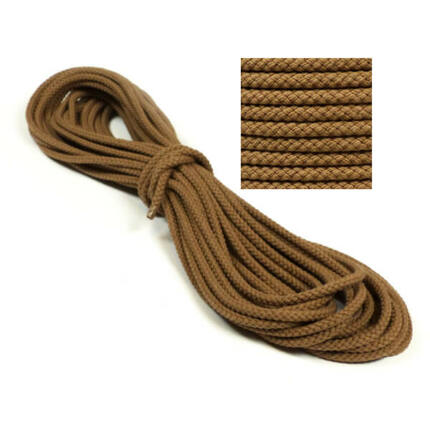 Kötél, pamut - 8 mm, barna