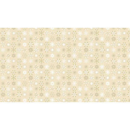 Patchwork anyag - Makower - Christmas Traditional Metallic 1796/Q Snowflakes