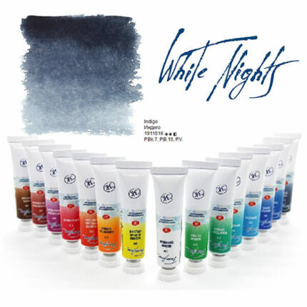 White Nights tubusos akvarellfesték, 10 ml - 516, indigo