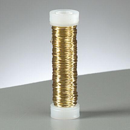 Ékszer drót, 0,18 mm, 25 m - metál arany