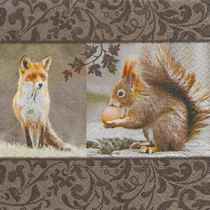 Szalvéta - Róka-mókus találkozó (k)