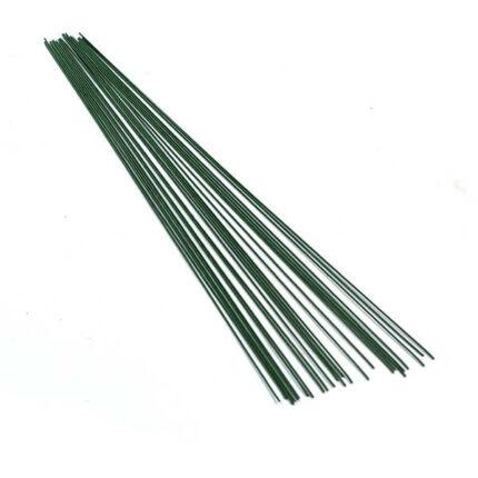 Virágkötöző drót, 0,8 mm, 28 cm, 20 db - zöld
