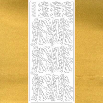 Kontúrmatrica - házasságkötés, arany, 2235 - AKCIÓS
