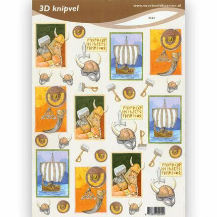 3D papír - vikingek