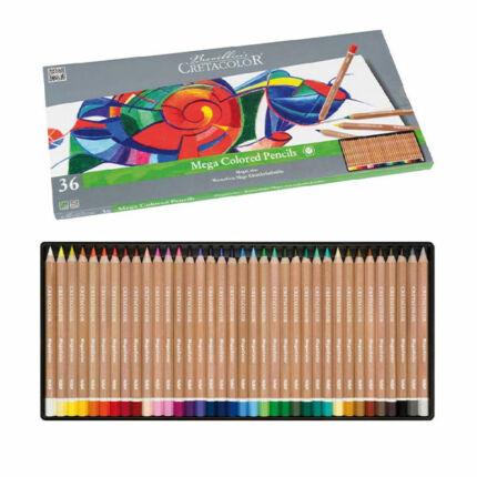 Cretacolor MegaColor színesceruza készlet - 36 db