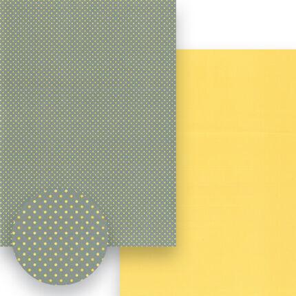 Fotókarton, A4 - matt pöttyös, szürke-sárga