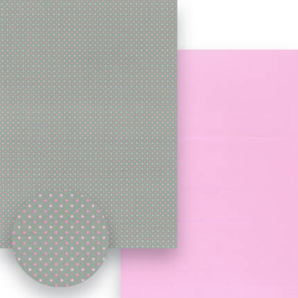 Fotókarton, A4 - matt pöttyös, szürke-rózsaszín