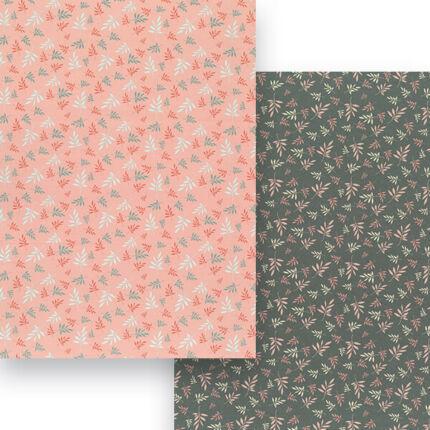 Fotókarton, A4 - matt kis ágak, rózsaszín-szürke