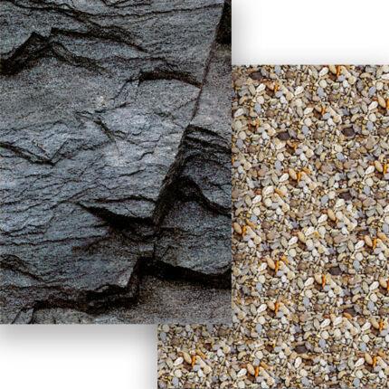 Fotókarton, A4 - szikla, kavicsok
