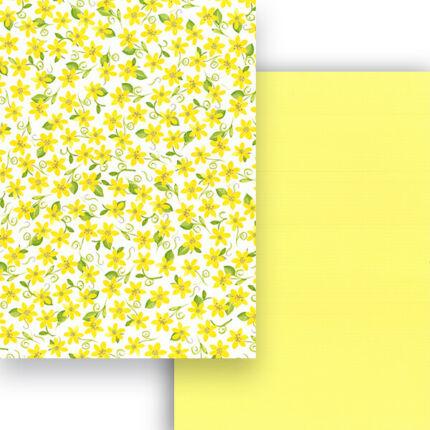 Fotókarton, A4 - mezei virágok, sárga