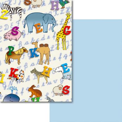 Fotókarton, A4 - állatok betűvel