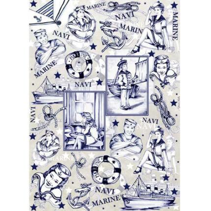 Esprimo decoupage papír - tengerész
