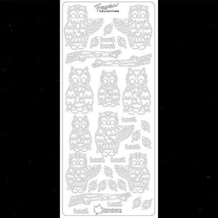 Kontúrmatrica - bagoly francoise, fekete, 3317 - AKCIÓS