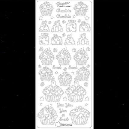 Kontúrmatrica - muffin francoise, fekete, 3322 - AKCIÓS