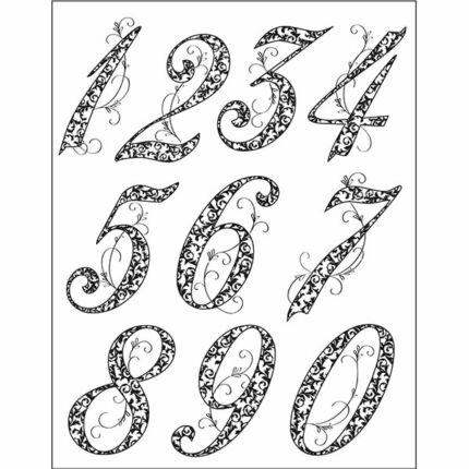 Pecsételő szilikon, 14x18 cm - Számok, évforduló, 5-6 cm