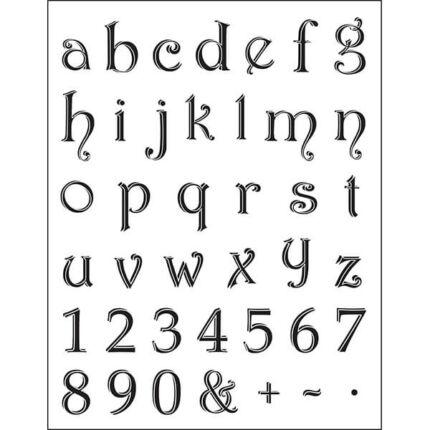 Pecsételő szilikon, 14x18 cm - abc betűk, számok, 1-2 cm