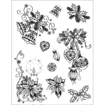 Pecsételő szilikon, 14x18 cm - klasszikus karácsony