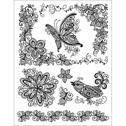 Pecsételő szilikon, 14x18 cm - Pillangó