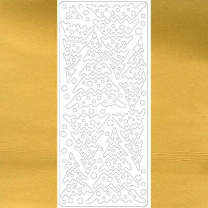 Kontúrmatrica - fenyő, arany, 4004 - AKCIÓS