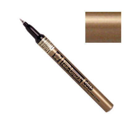 Pen-touch lakkfilc - gold, 0,7 mm, extra fine