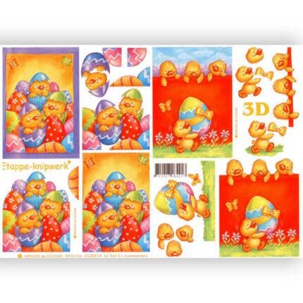 3D papír - húsvéti kiskacsák
