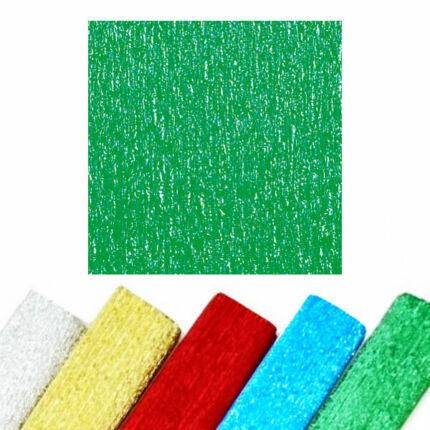 Krepp papír, ALU, 50x250 cm - zöld