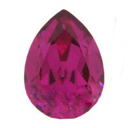 4320 Swarovski csepp alakú befoglalható kristály, 14x10 mm - Fuchsia