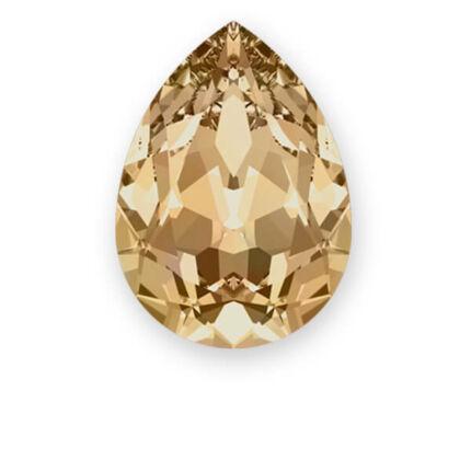 4320 Swarovski csepp alakú befoglalható kristály, 14x10,5 mm - Crystal Golden Shadow