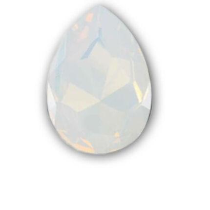 4320 Swarovski csepp alakú befoglalható kristály, 14x10 mm - White Opal