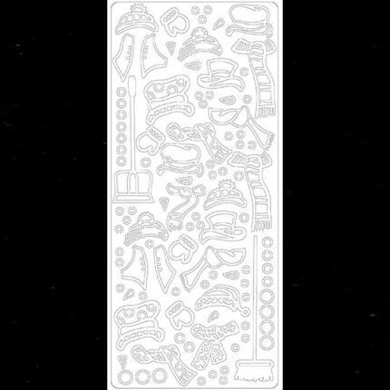 Kontúrmatrica - hóember ruha, fekete, 4377 - AKCIÓS