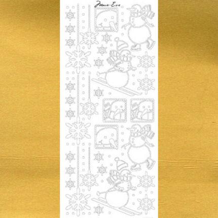 Kontúrmatrica - síelő hóember, arany, 4395 - AKCIÓS