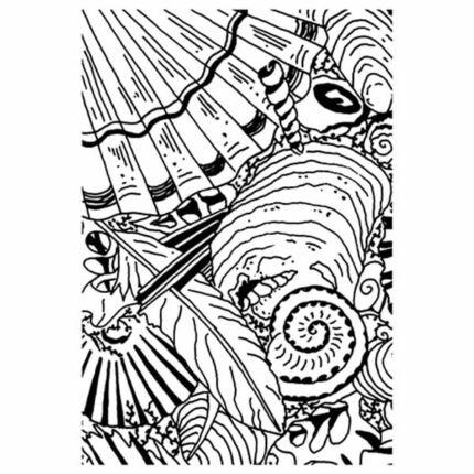 Pecsételő szilikon, 7,4x10,5 cm - Színező, kagyló