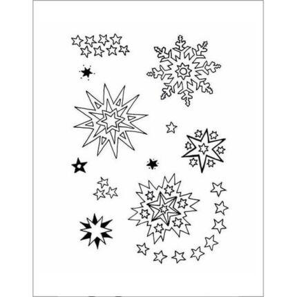 Pecsételő szilikon, 7,4x10,5 cm - Csillagok