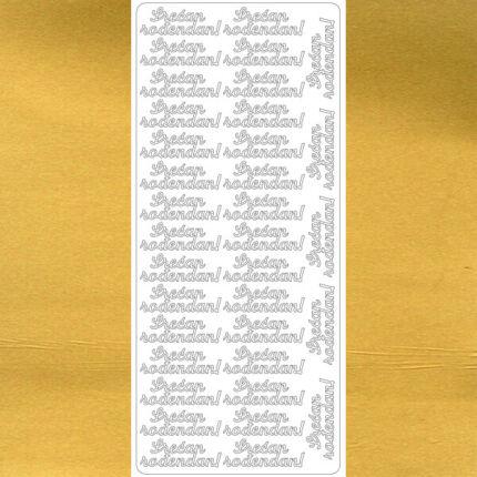 Kontúrmatrica - boldog születésnapot, szerb, arany, 4545  - AKCIÓS