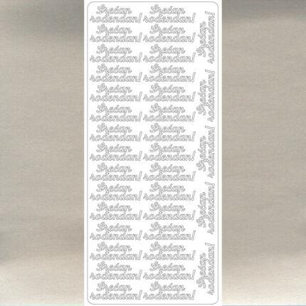 Kontúrmatrica - boldog születésnapot, szerb, ezüst, 4545  - AKCIÓS