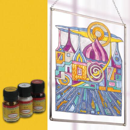 Hobbyművész terpentines üvegfesték, 30 ml - aranysárga