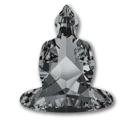 4779 Swarovski Buddha befoglalható kő, 18x15,6 mm - Crystal Silver Night