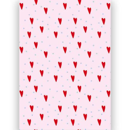 Transzparens papír, A4 - Szív és pötty