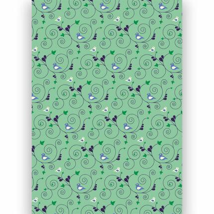 Transzparens papír, A4 - Madaras, indás, zöld