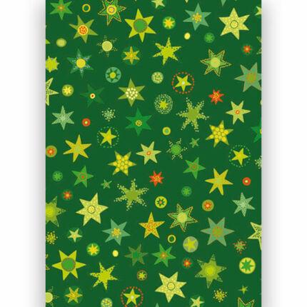Transzparens papír, A4 - Csillagos II. zöld