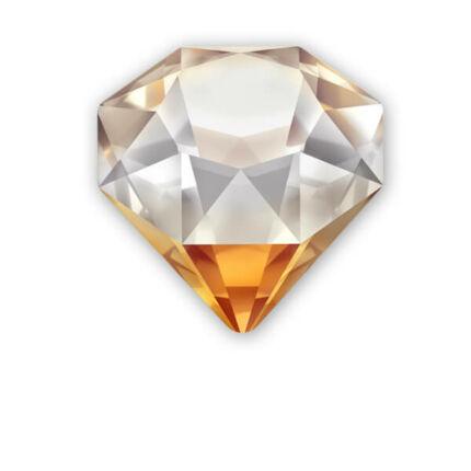 4928 Swarovski Tilted Chaton, 12 mm - Crystal Copper