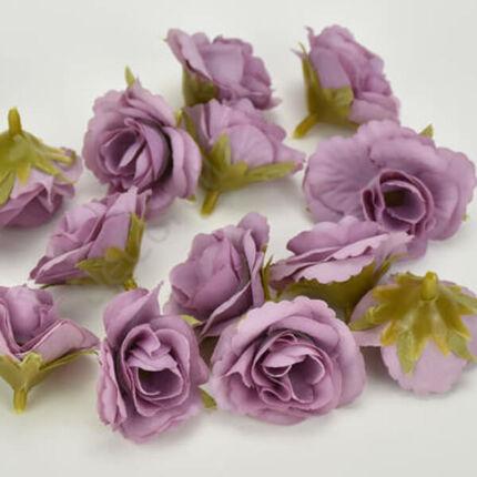 Művirág rózsafej, 3 cm - mályva, 1 db