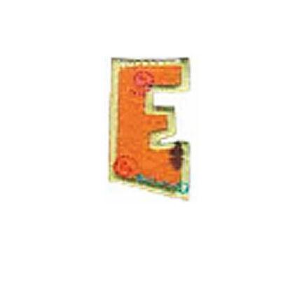 Textil betű, vasalható - E, színes