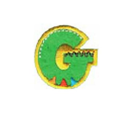 Textil betű, vasalható - G, színes