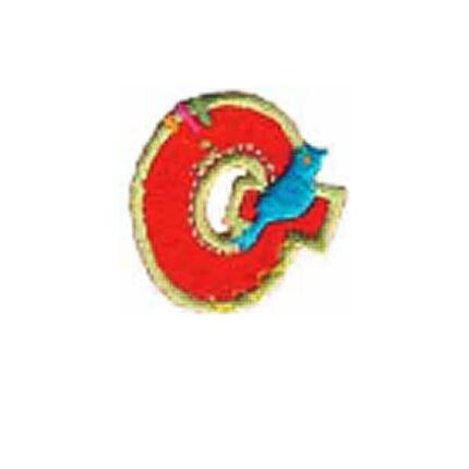 Textil betű, vasalható - Q, színes