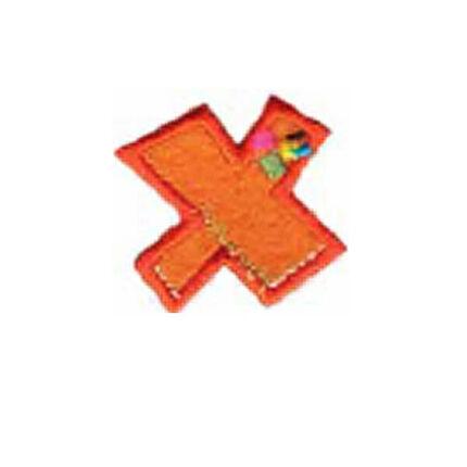 Textil betű, vasalható - X, színes