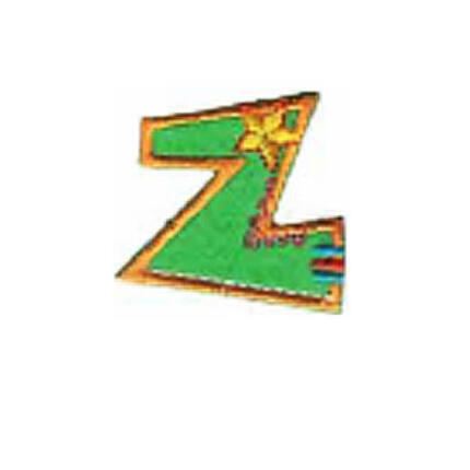 Textil betű, vasalható - Z, színes